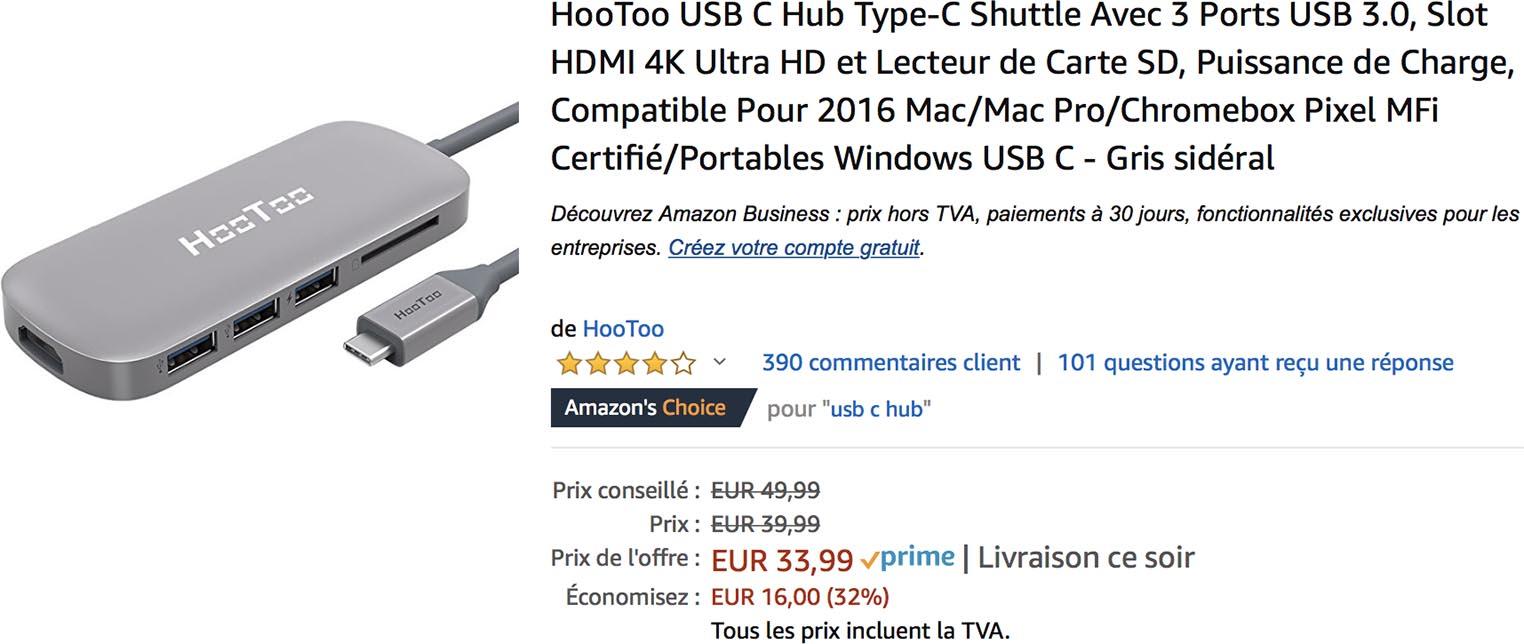 Hub USB-C Hootoo Amazon