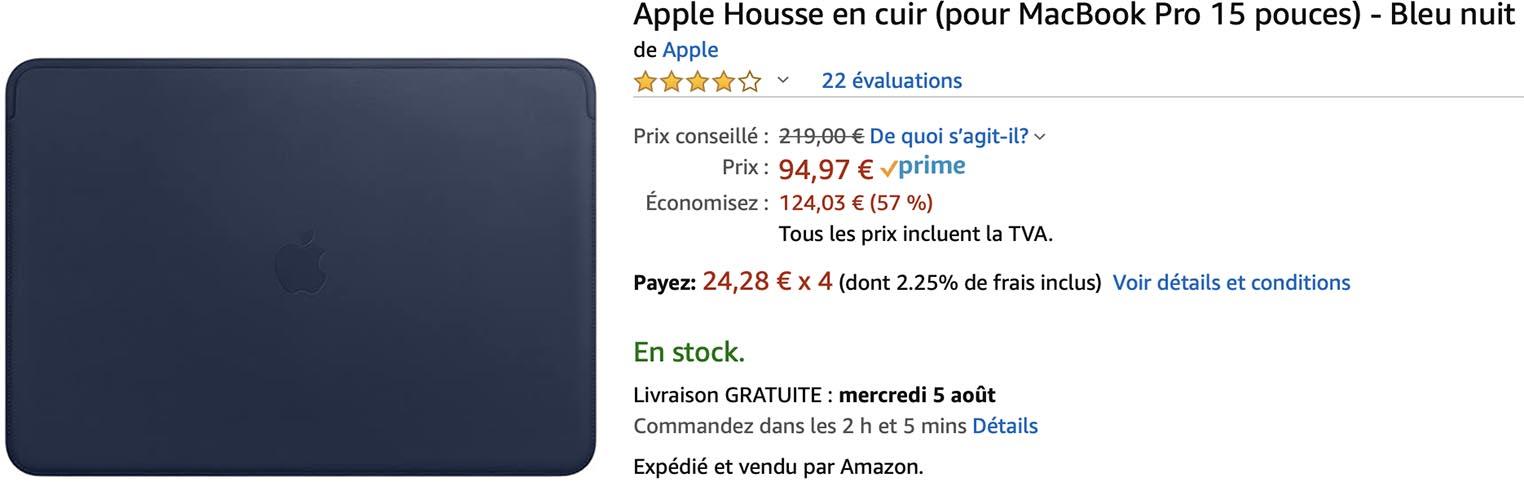 Housse cuir MacBook Pro 15 Amazon