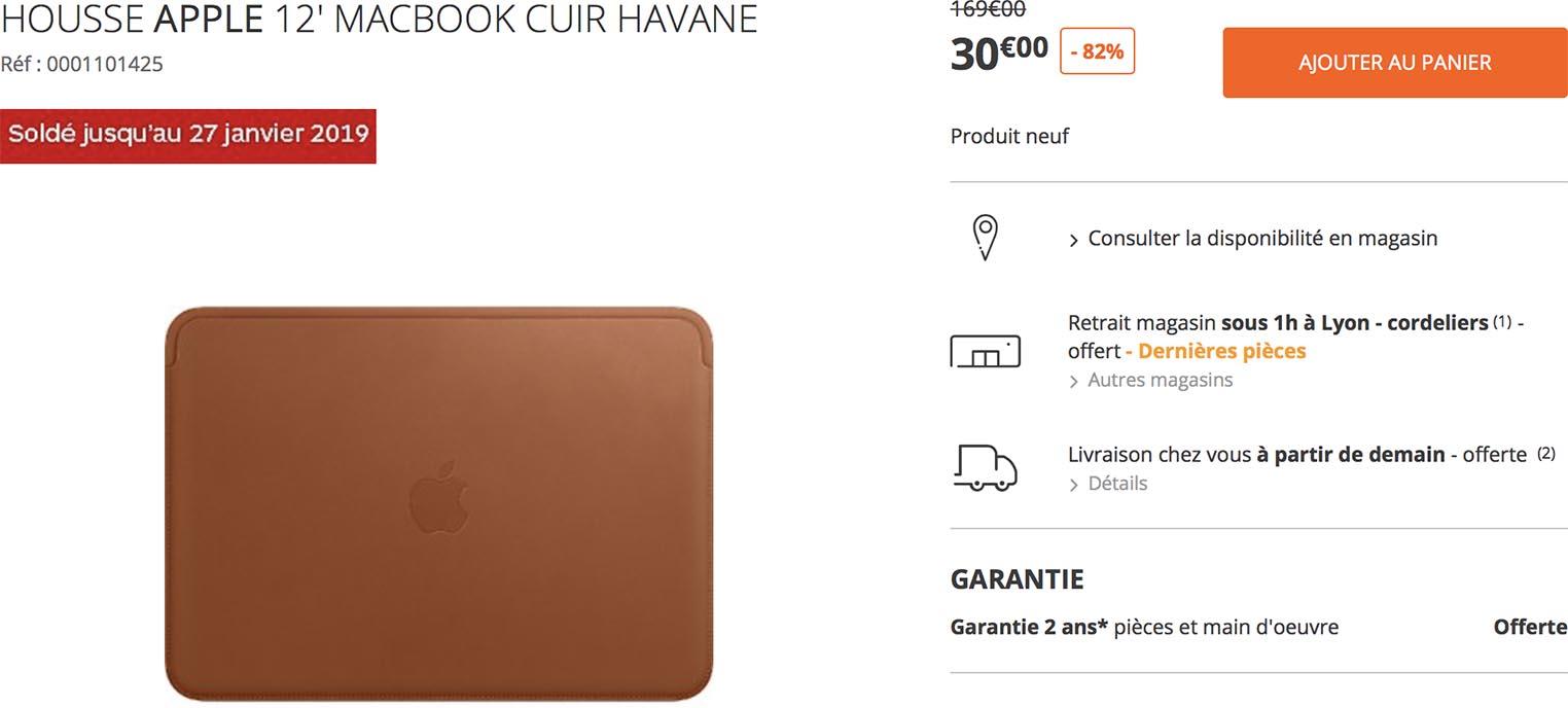 Housse cuir MacBook 12