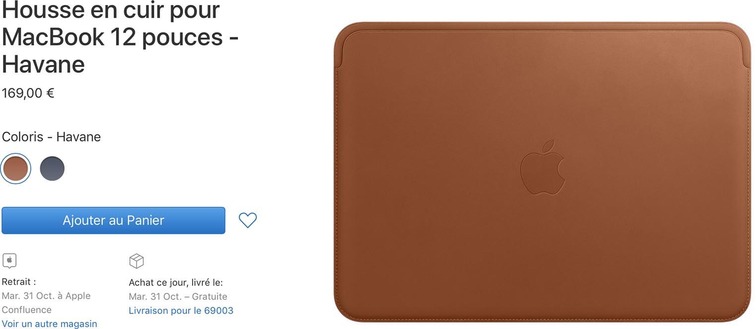 Housse cuir MacBook 12 pouces