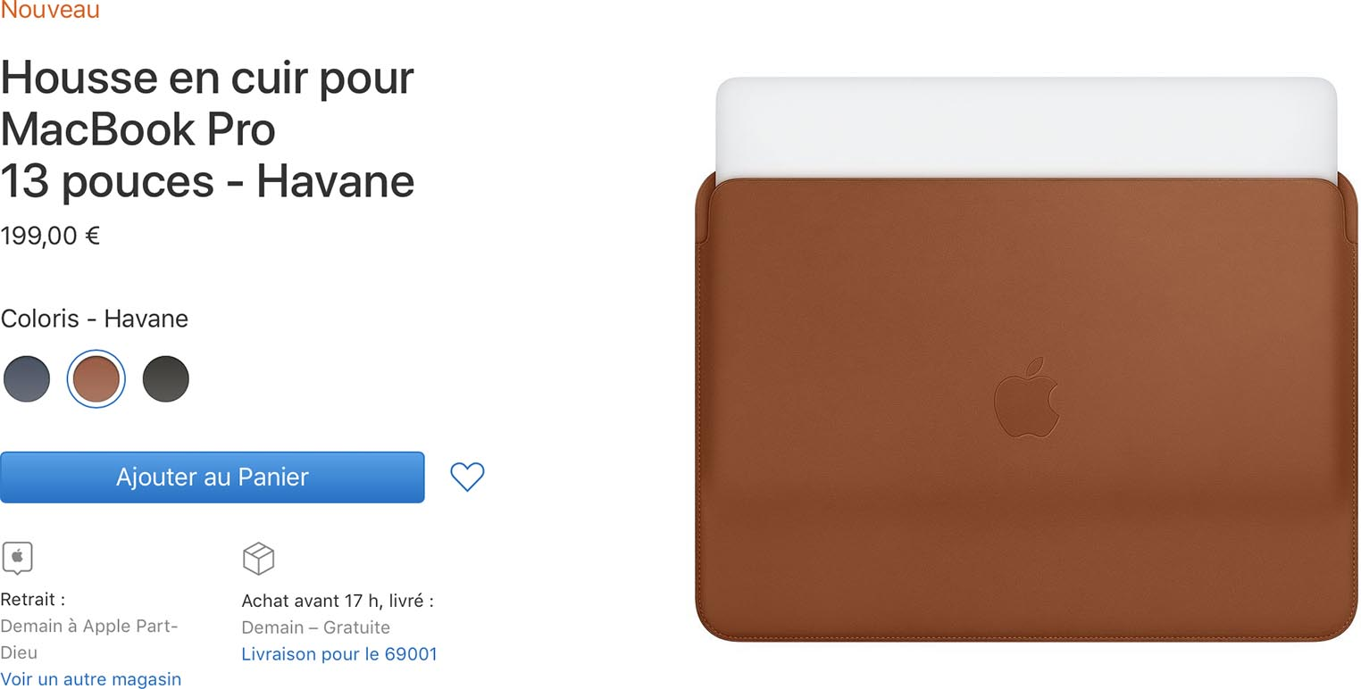 Housse en cuir MacBook Pro