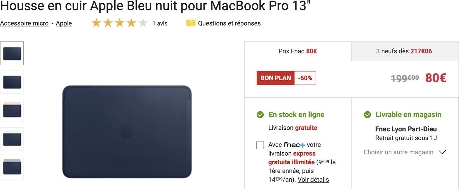 Housse cuir MacBook Pro Fnac