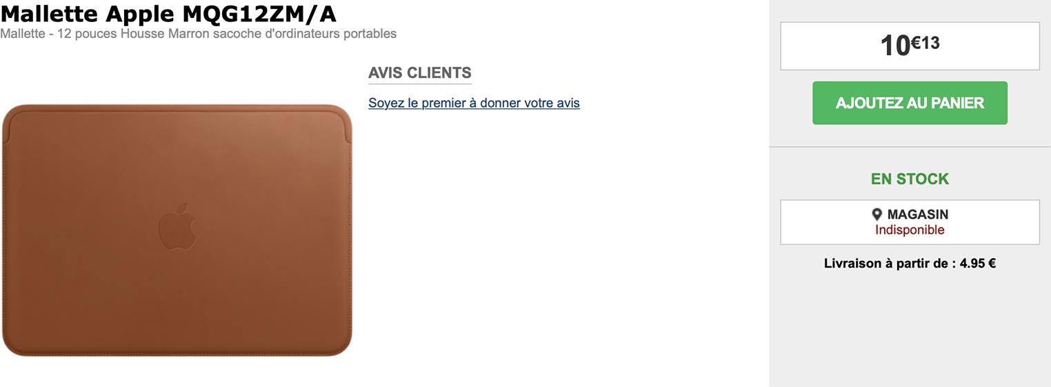 Housse cuir MacBook 12 pouces GrosBill
