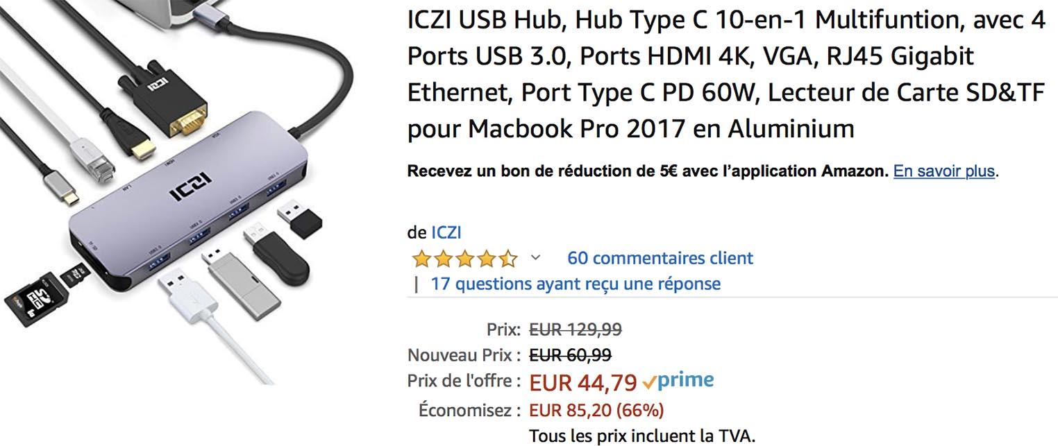Hub USB-C ICZI Amazon