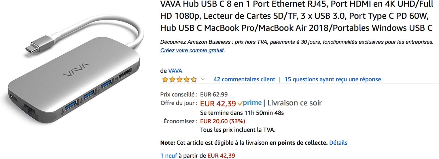 Hub USB-C VAVA Amazon