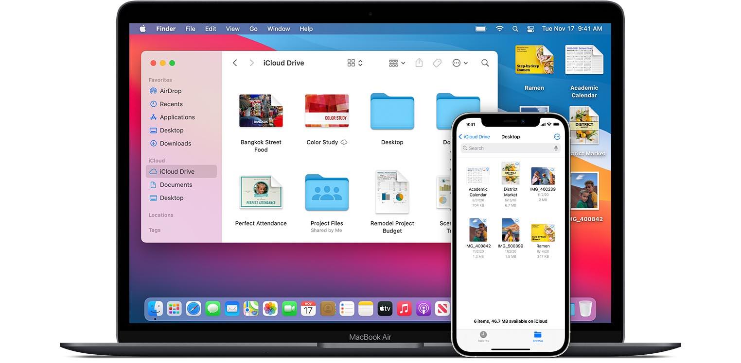 iCloud Drive macOS 11 iPhone