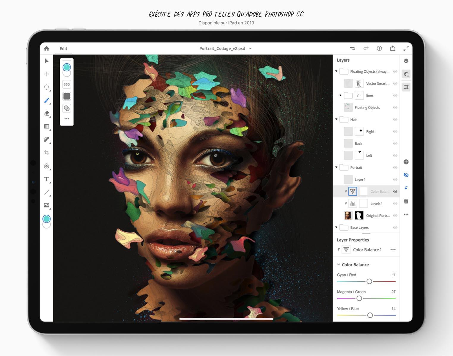 Photoshop sur iPad Pro
