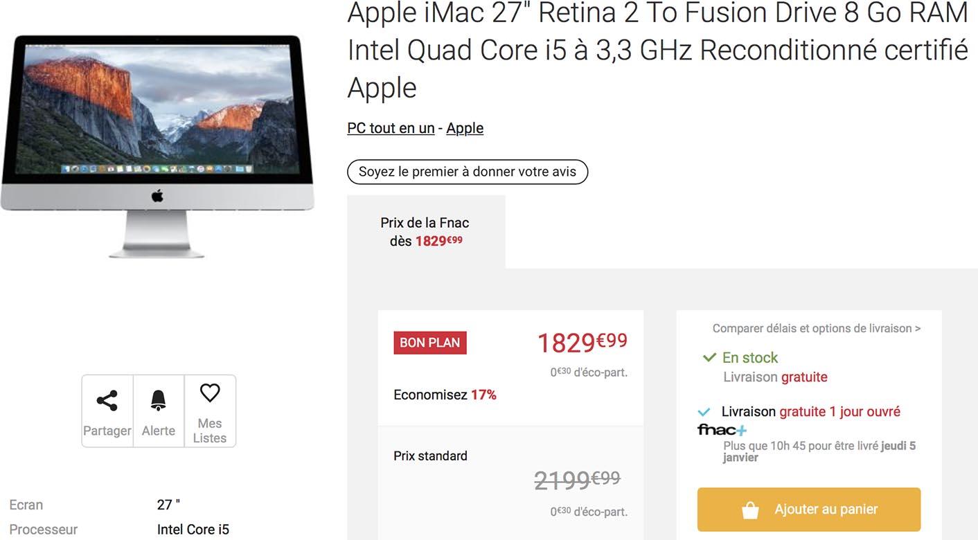 iMac 27 promo Fnac