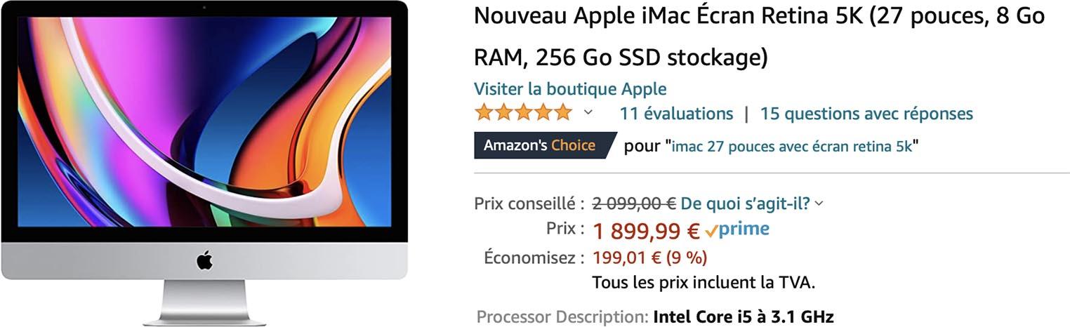 iMac 2020 promo Amazon
