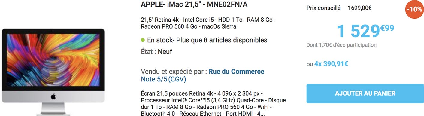 iMac 2017 Rue du Commerce