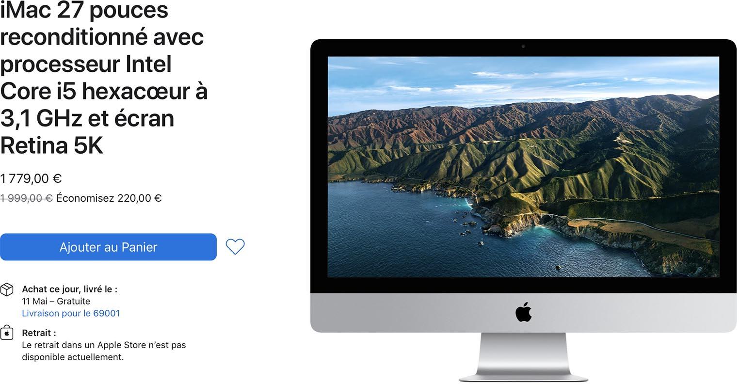 iMac 27 pouces 2020 Refurb Store