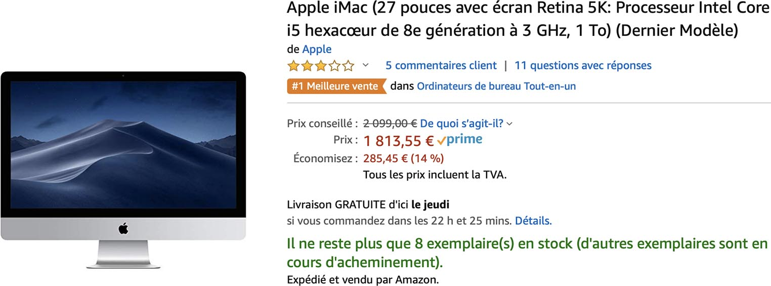 iMac promo Amazon