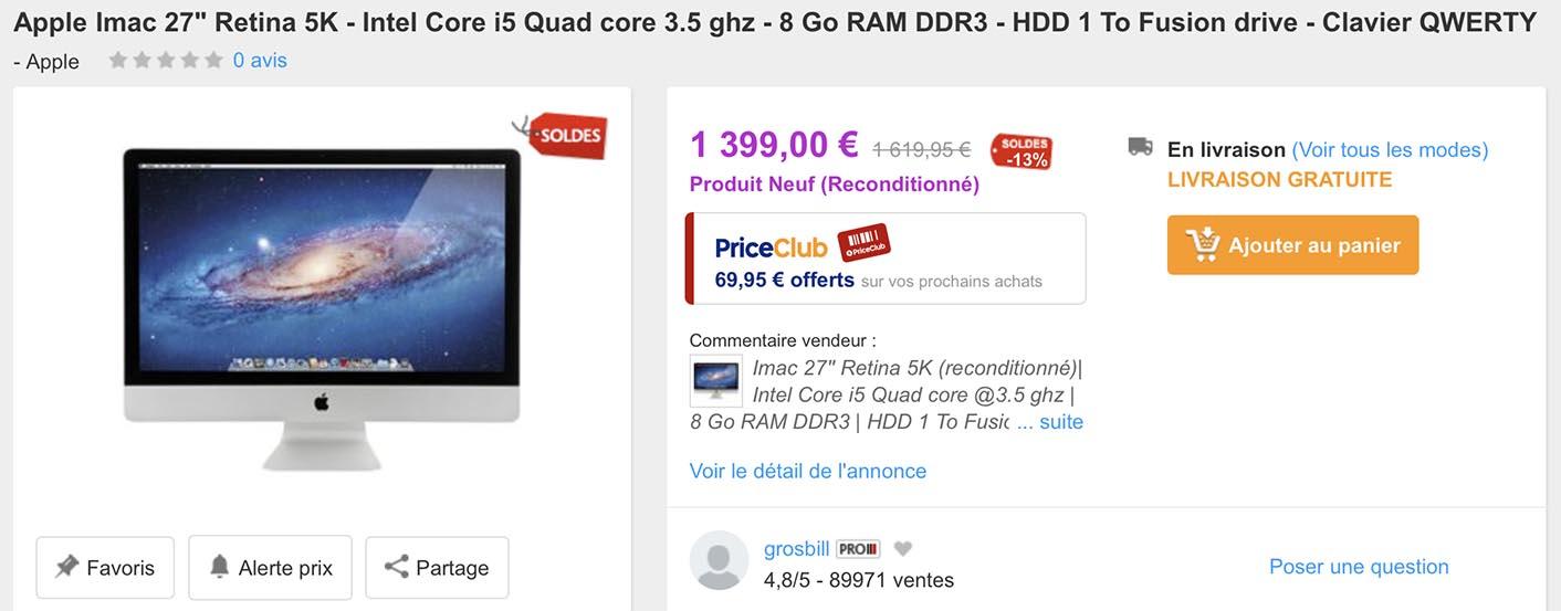 iMac 27 Retina 5K PriceMinister