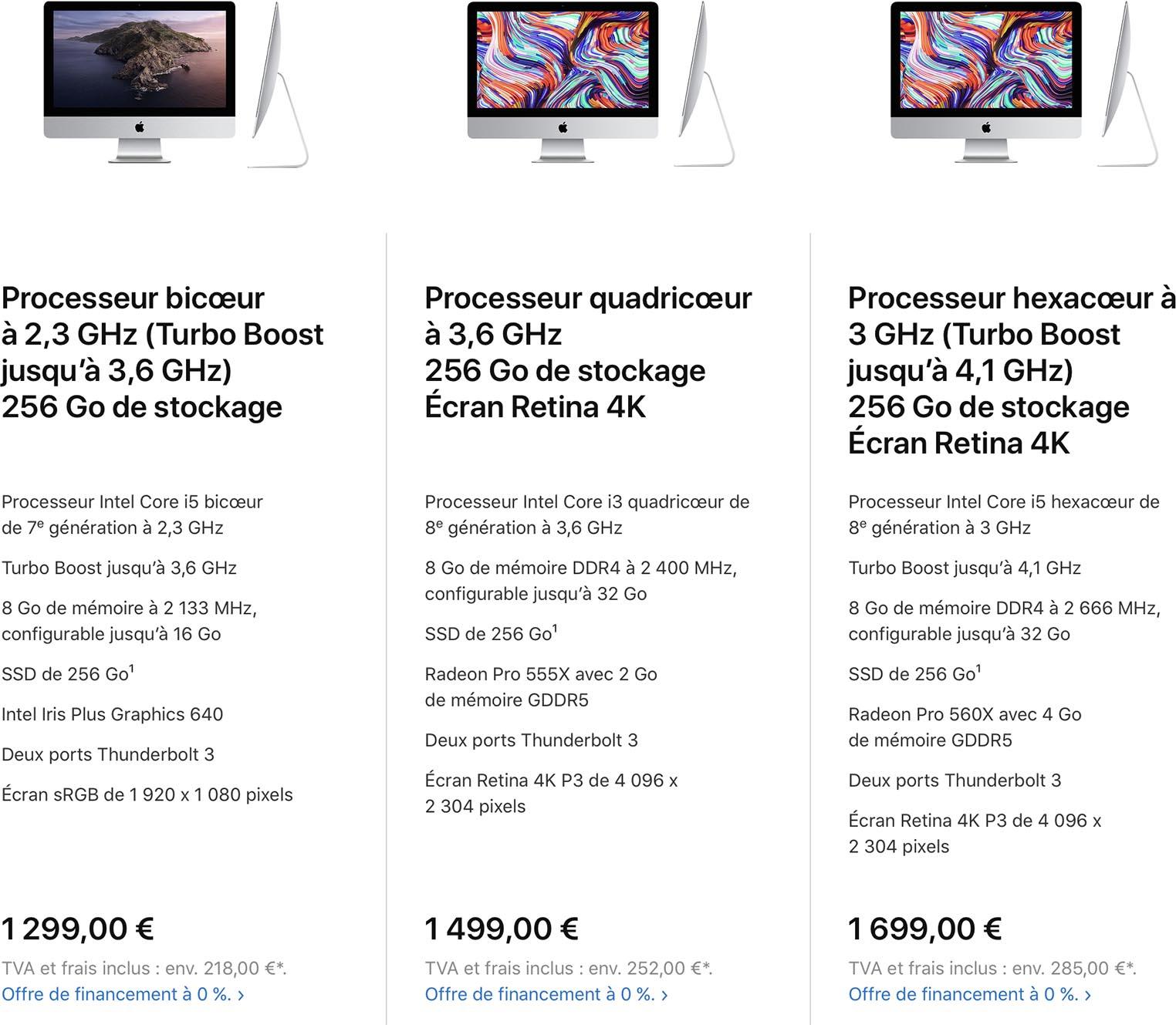 iMac 21 pouces 2020