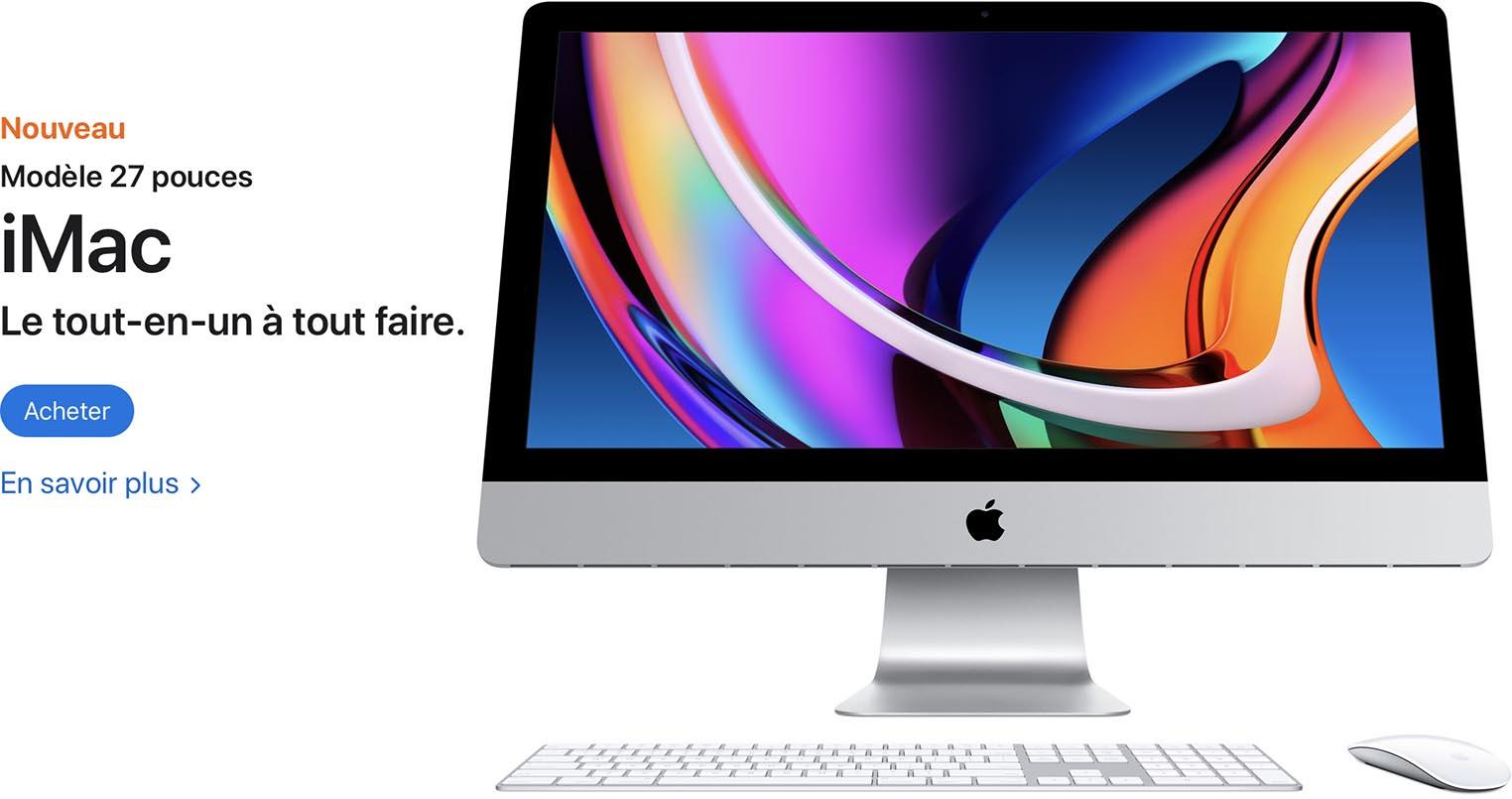 iMac 27 pouces 2020