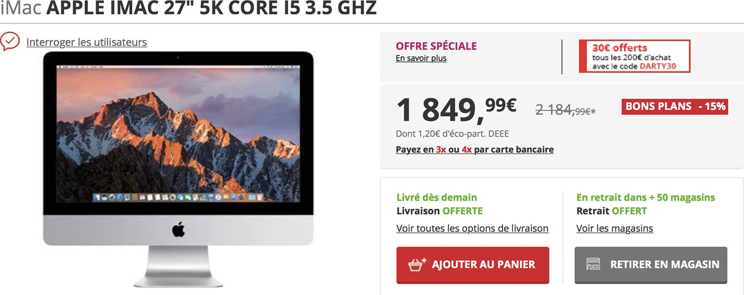 iMac 27 pouces Darty