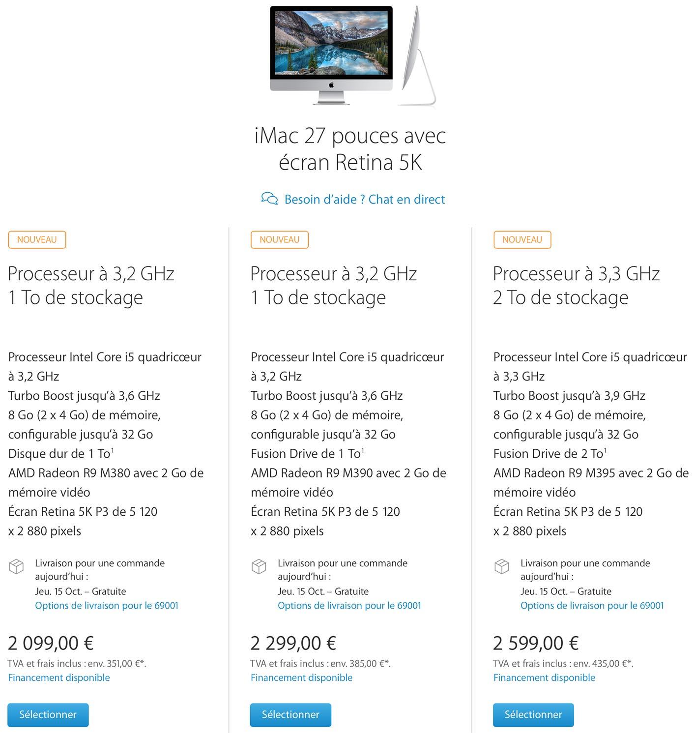 iMac 27 pouces 2015