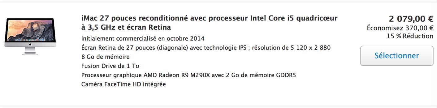 iMac 27 Fusion Drive Refurb