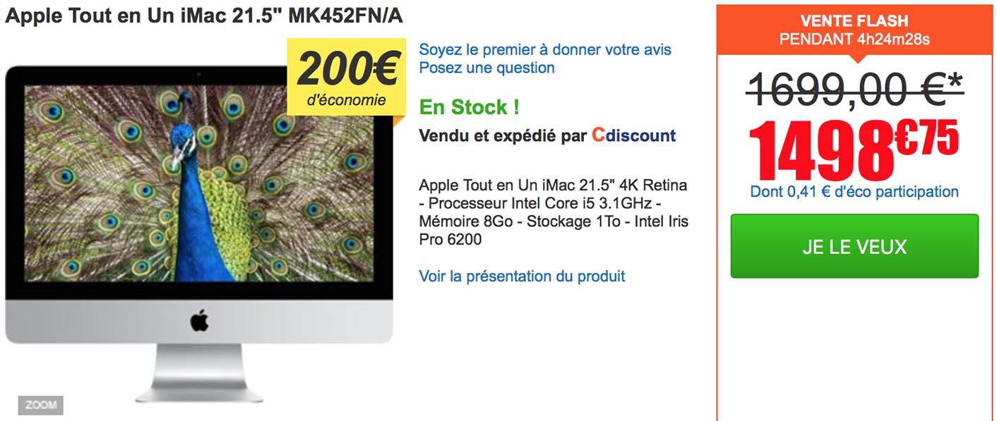 iMac 4K Cdiscount