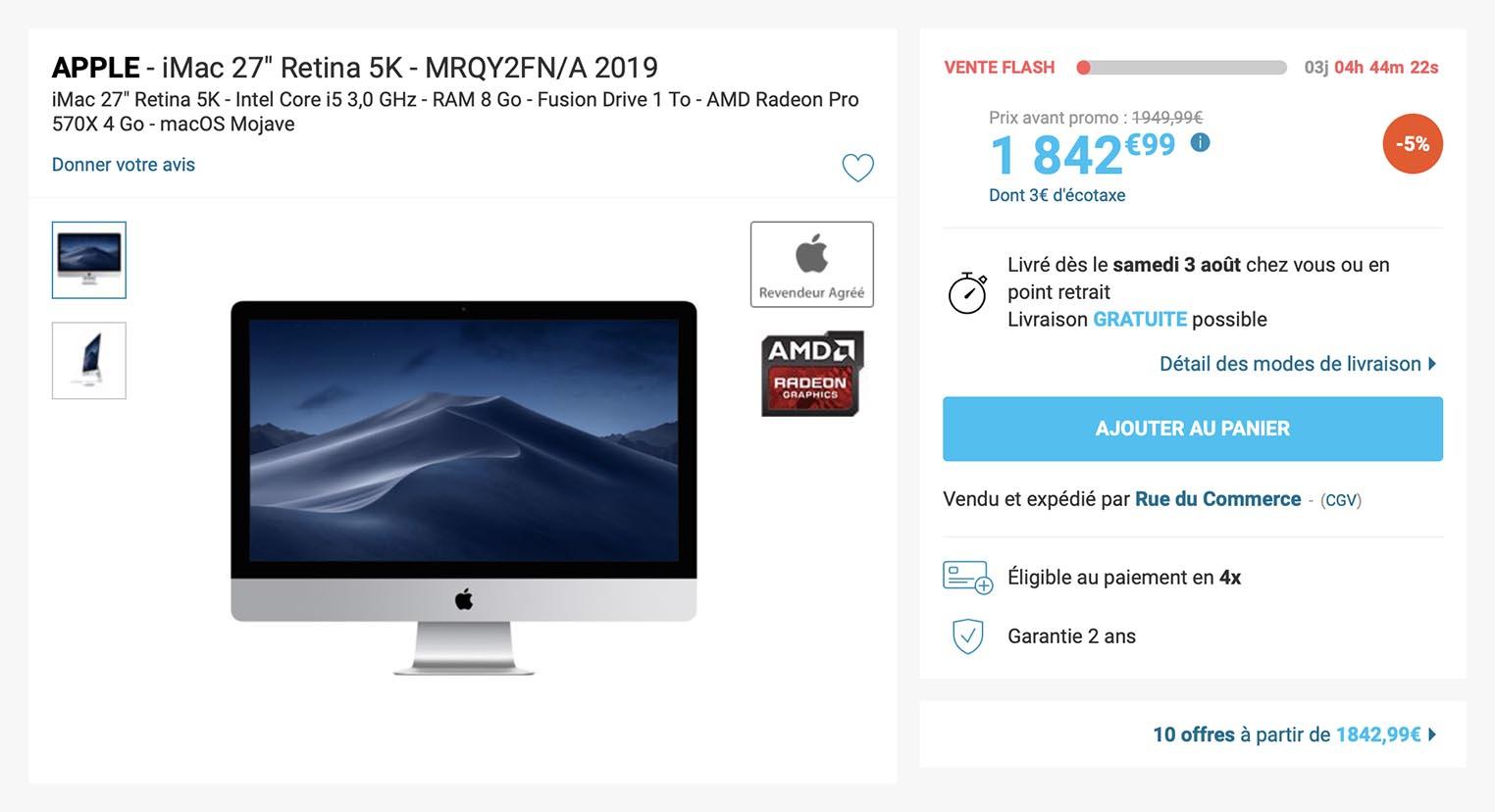 iMac 5K 2019 Rue du Commerce