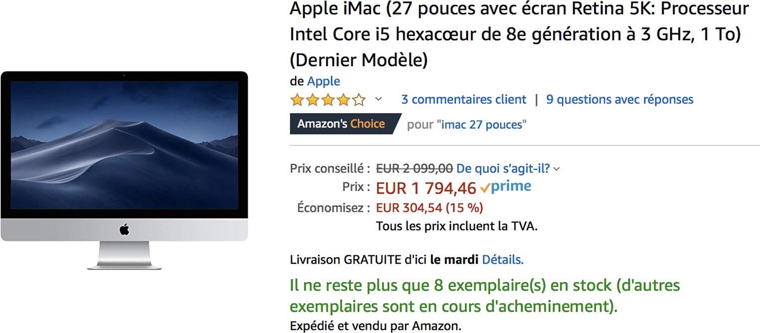 iMac 2019 Amazon