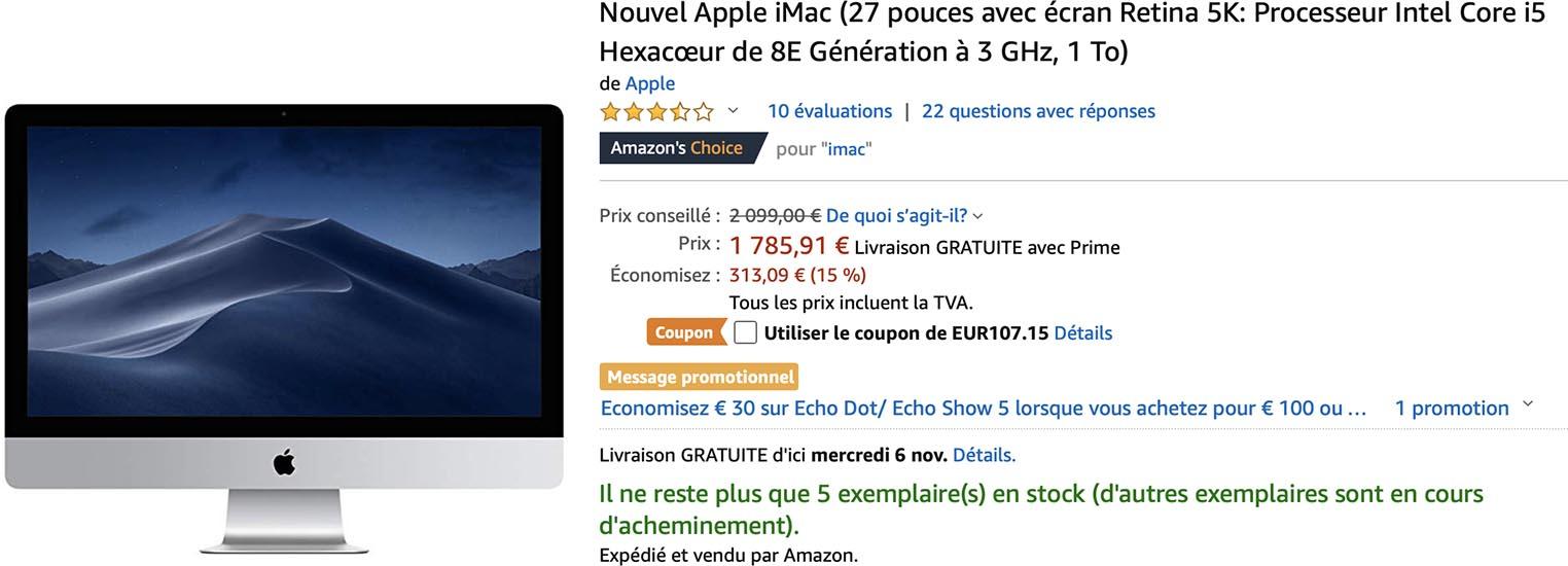 iMac 27 Amazon