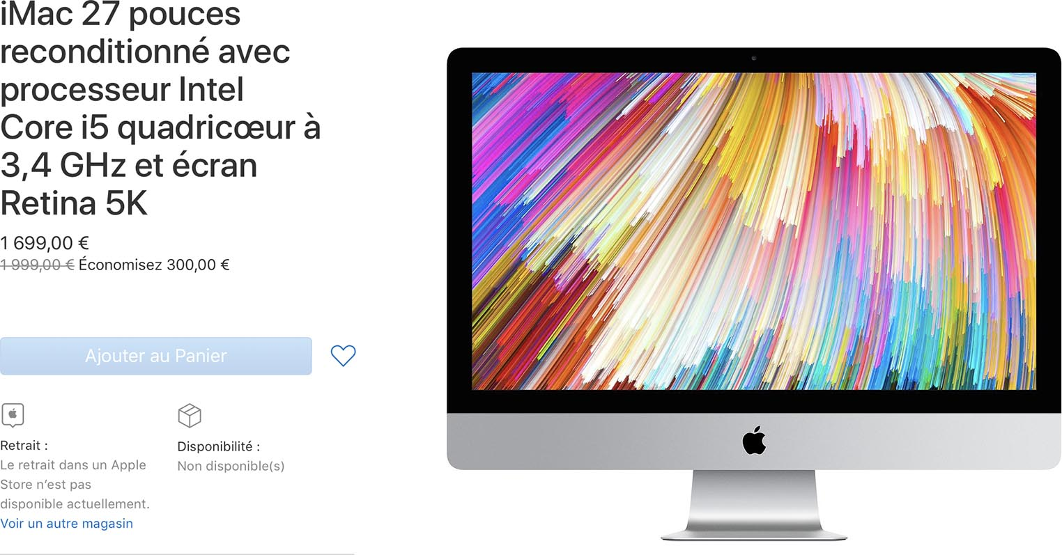 iMac Refurb Store