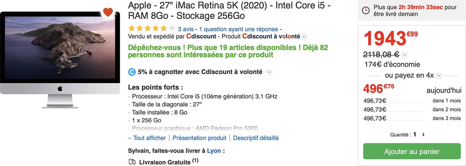 iMac 27 pouces 5K CDiscount