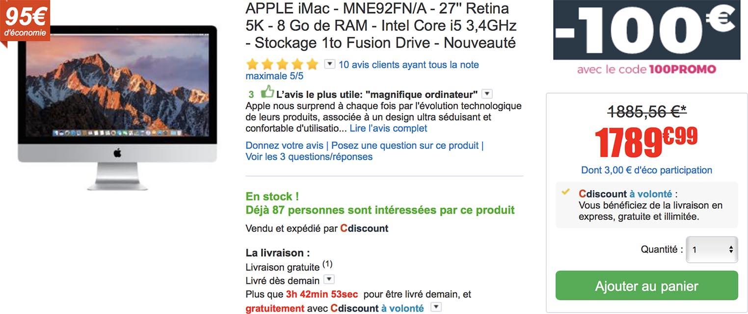 iMac CDiscount