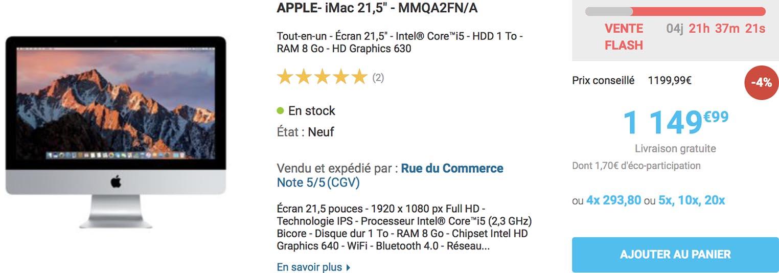 Vente flash iMac Rue du Commerce