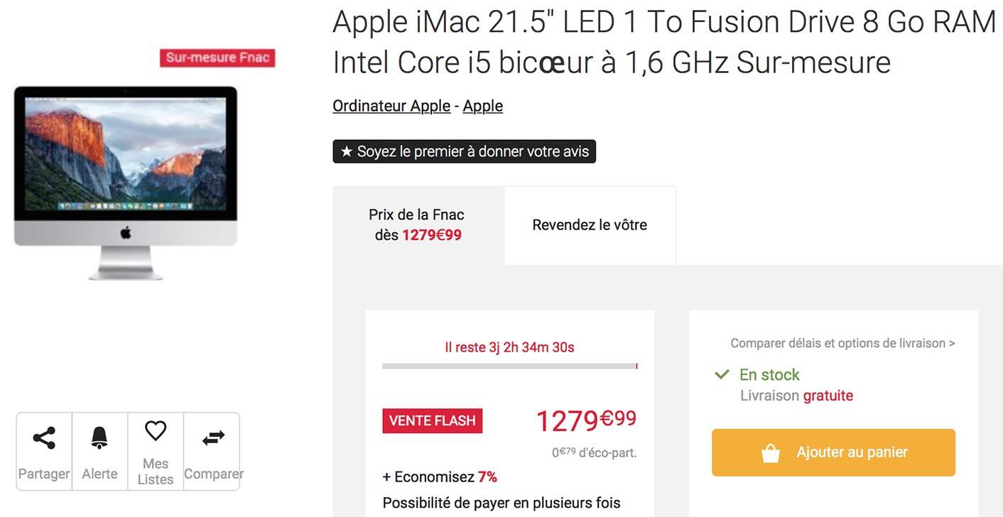 iMac Fusion Drive Fnac