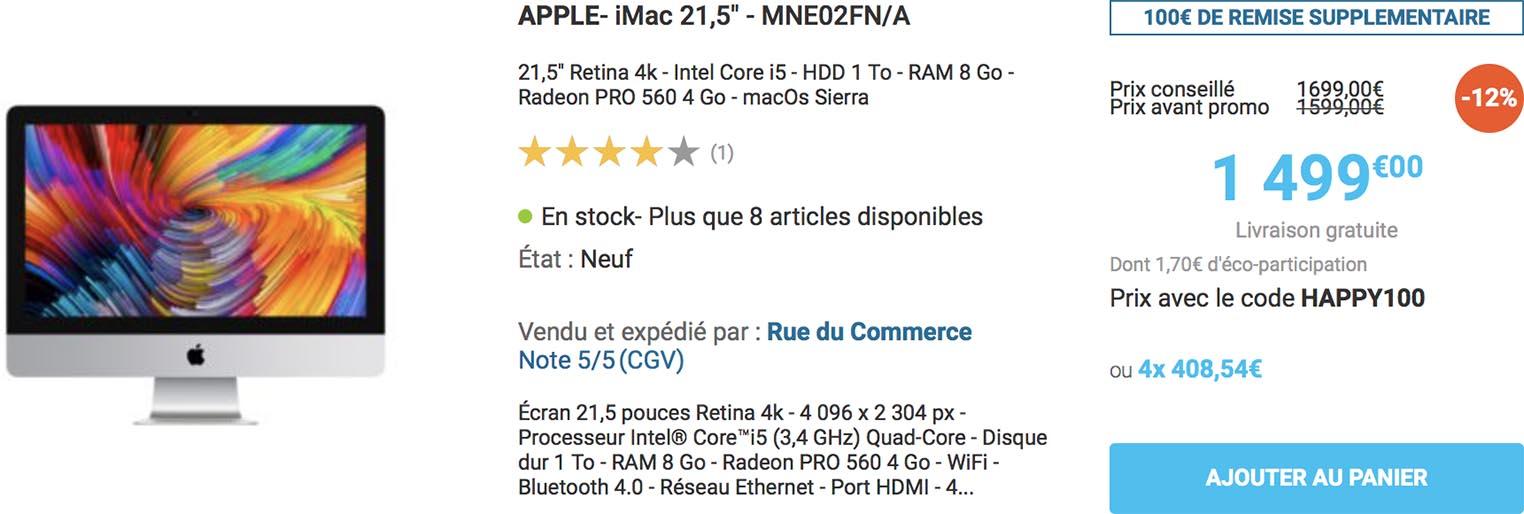 iMac promo Rue du Commerce