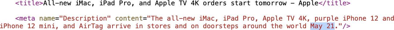 Sortie iMac iPad Pro 21 mai