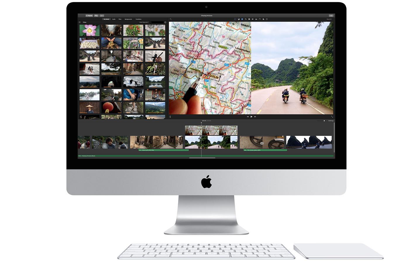 iMac clavier trackpad