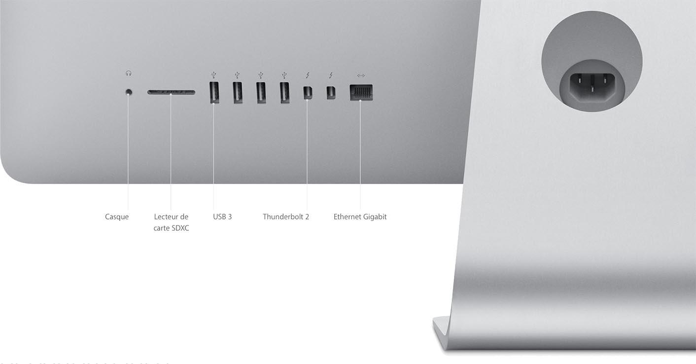 iMac Connectique 2016