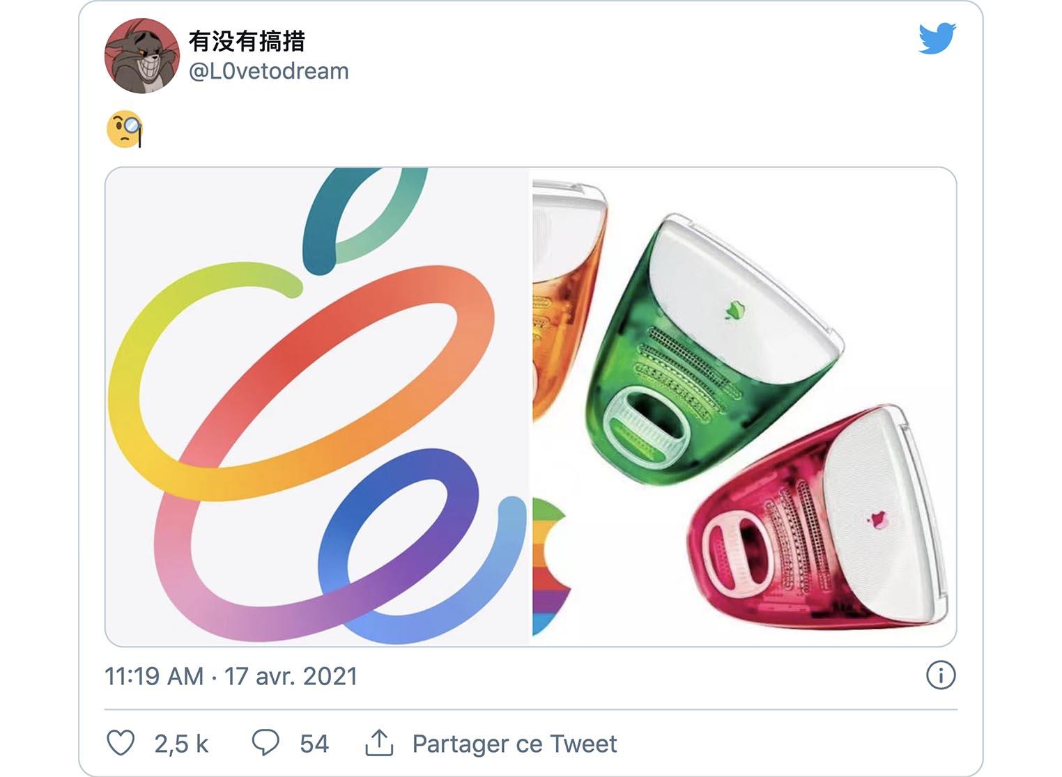 iMac tweet L0vetodream