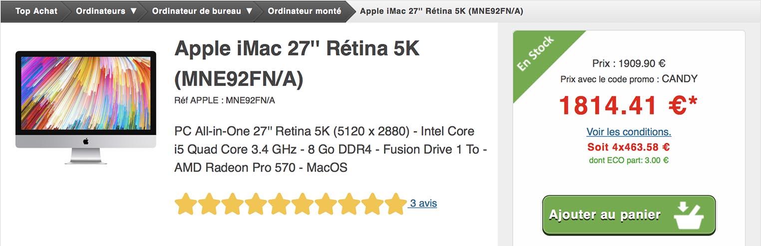 iMac promo Top Achat