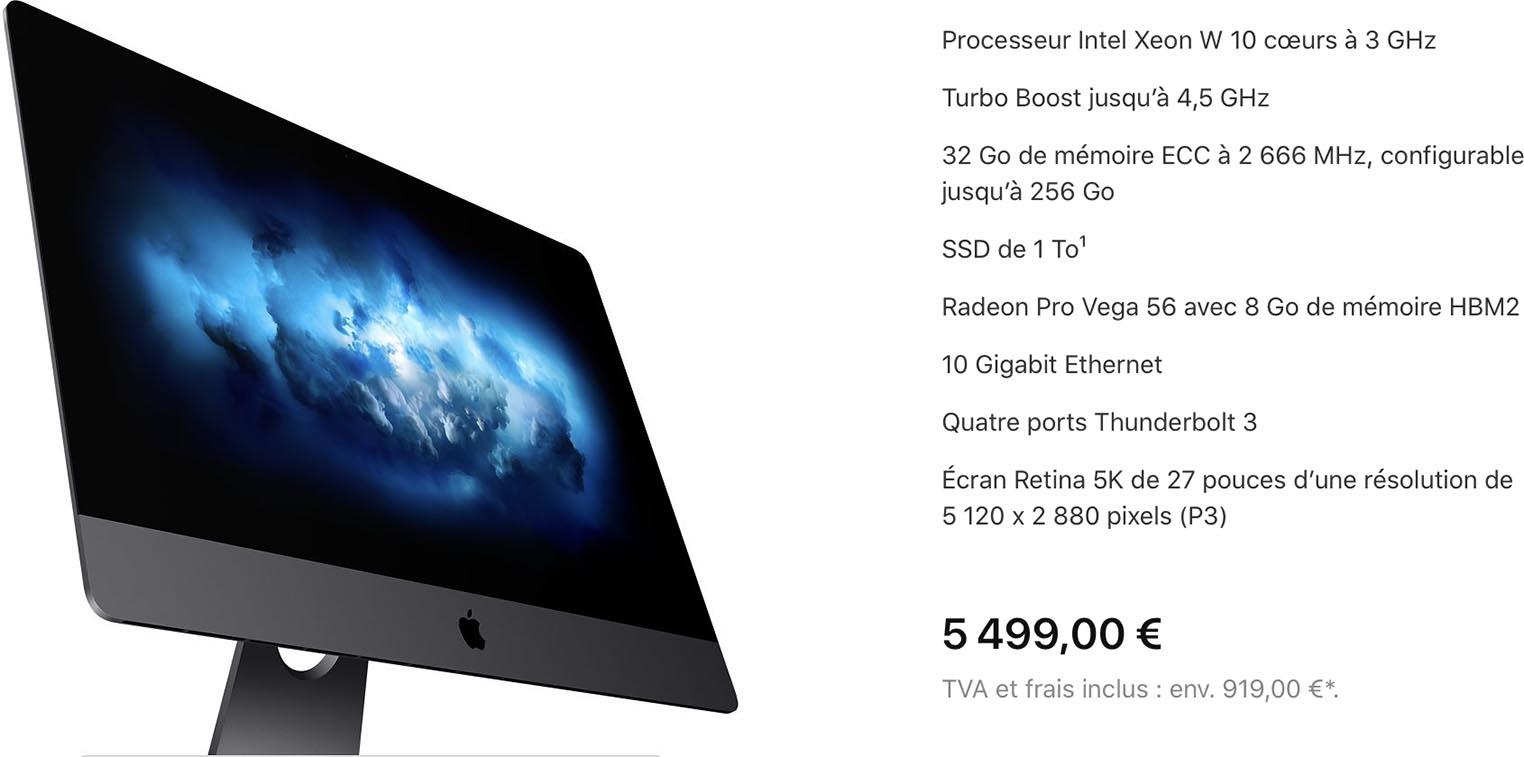 iMac Pro 2020 specs