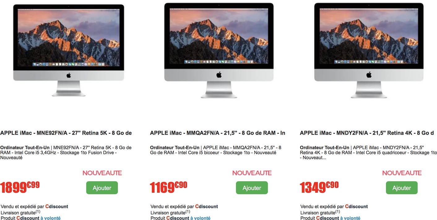 iMac promo CDiscount