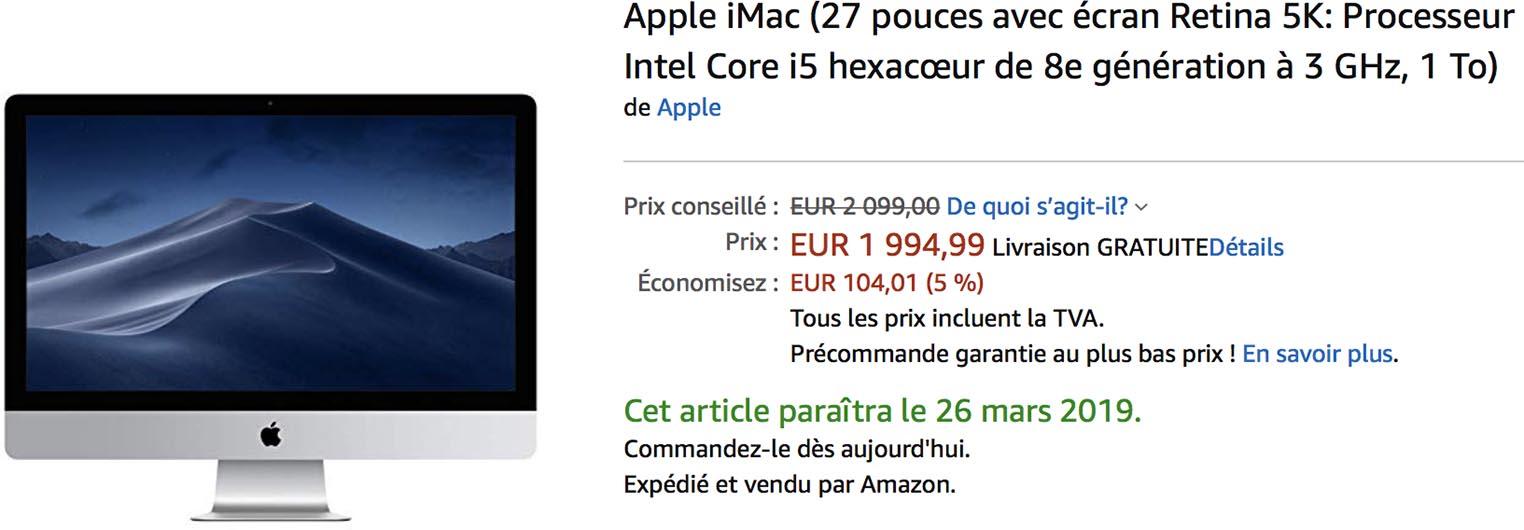 iMac 2019 promo Amazon