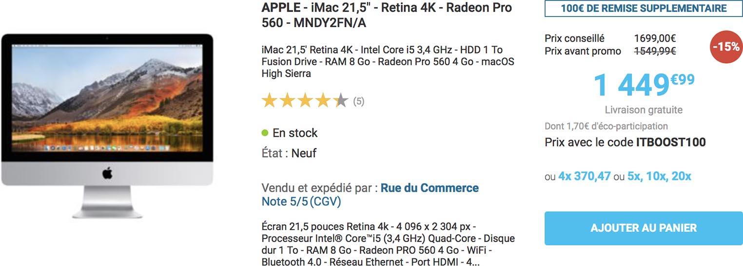 iMac Rue du Commerce promo