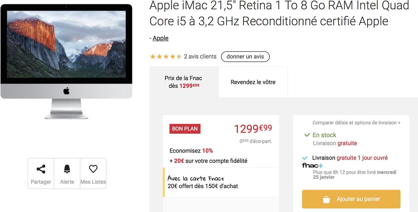iMac Retina 4K Fnac
