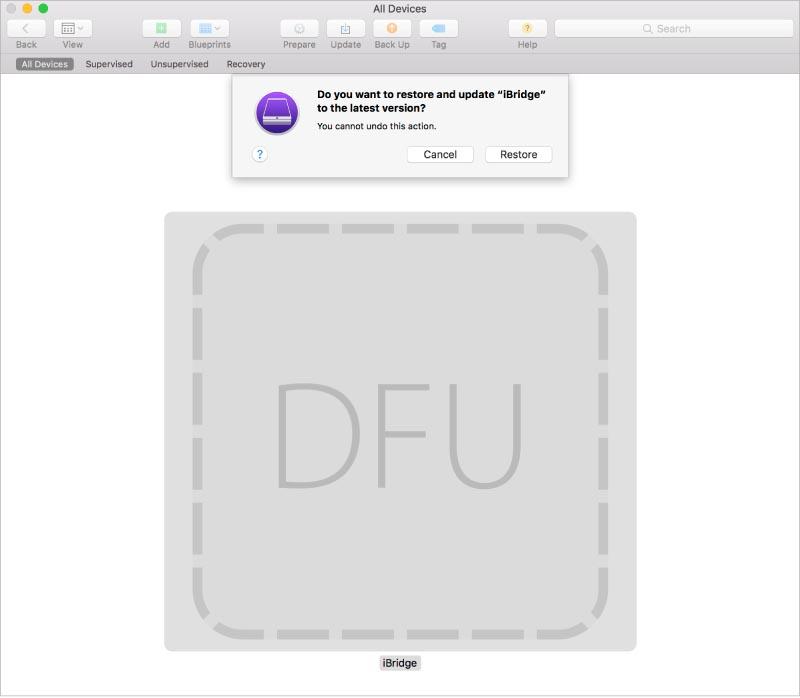 iMac Pro DFU Apple Configurator