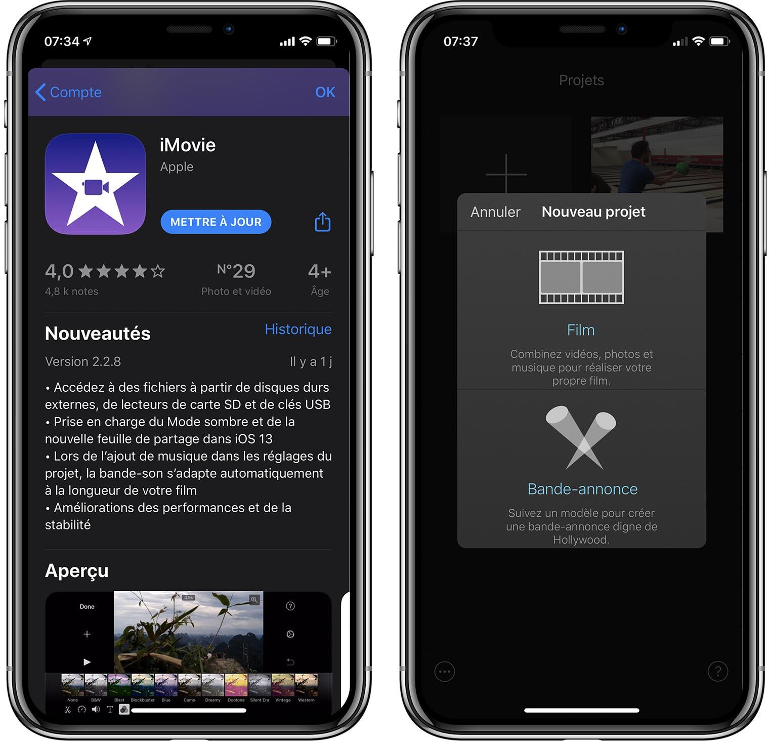 iMovie 2.2.8 iOS