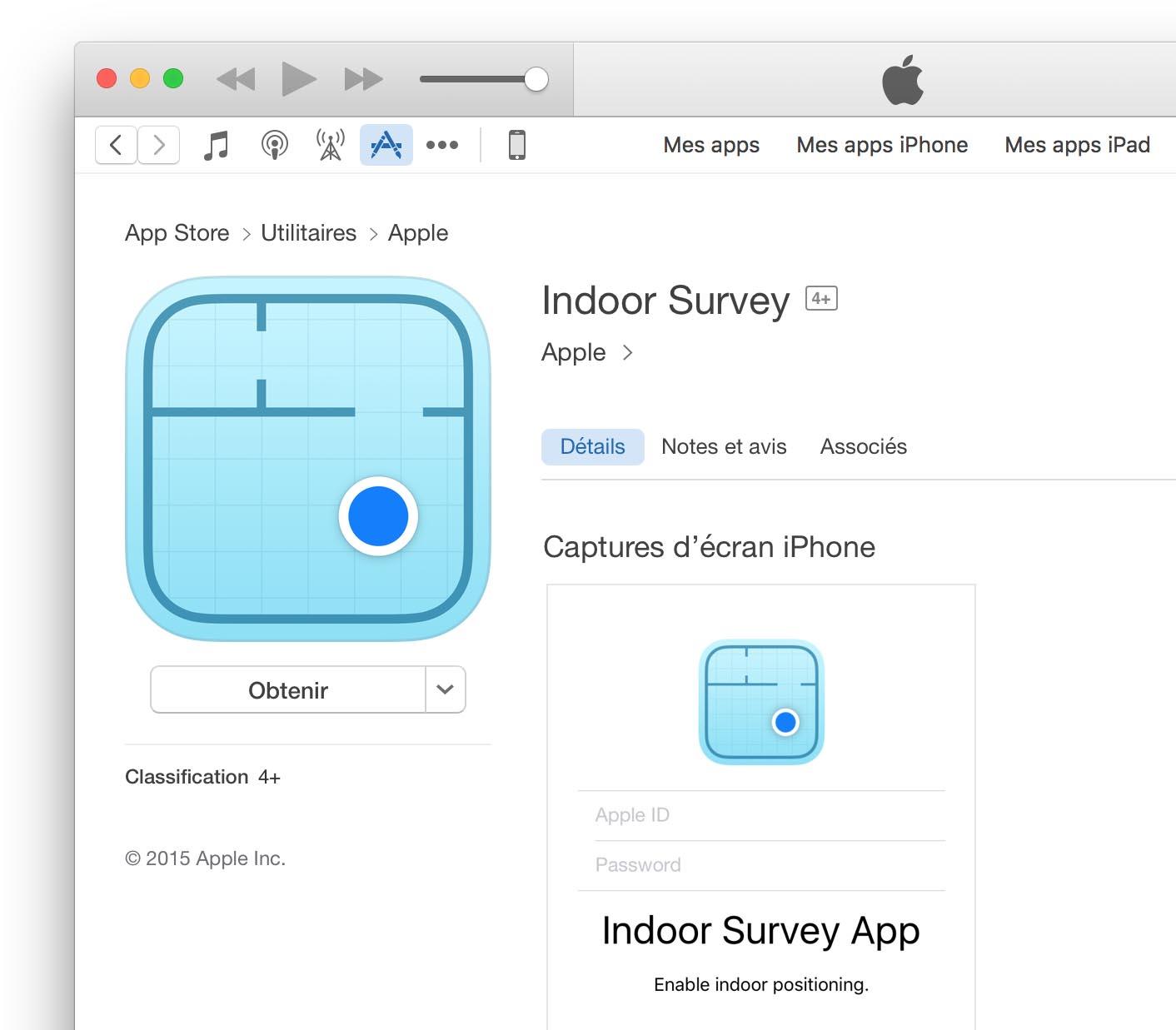 Indoor Survey iTunes App