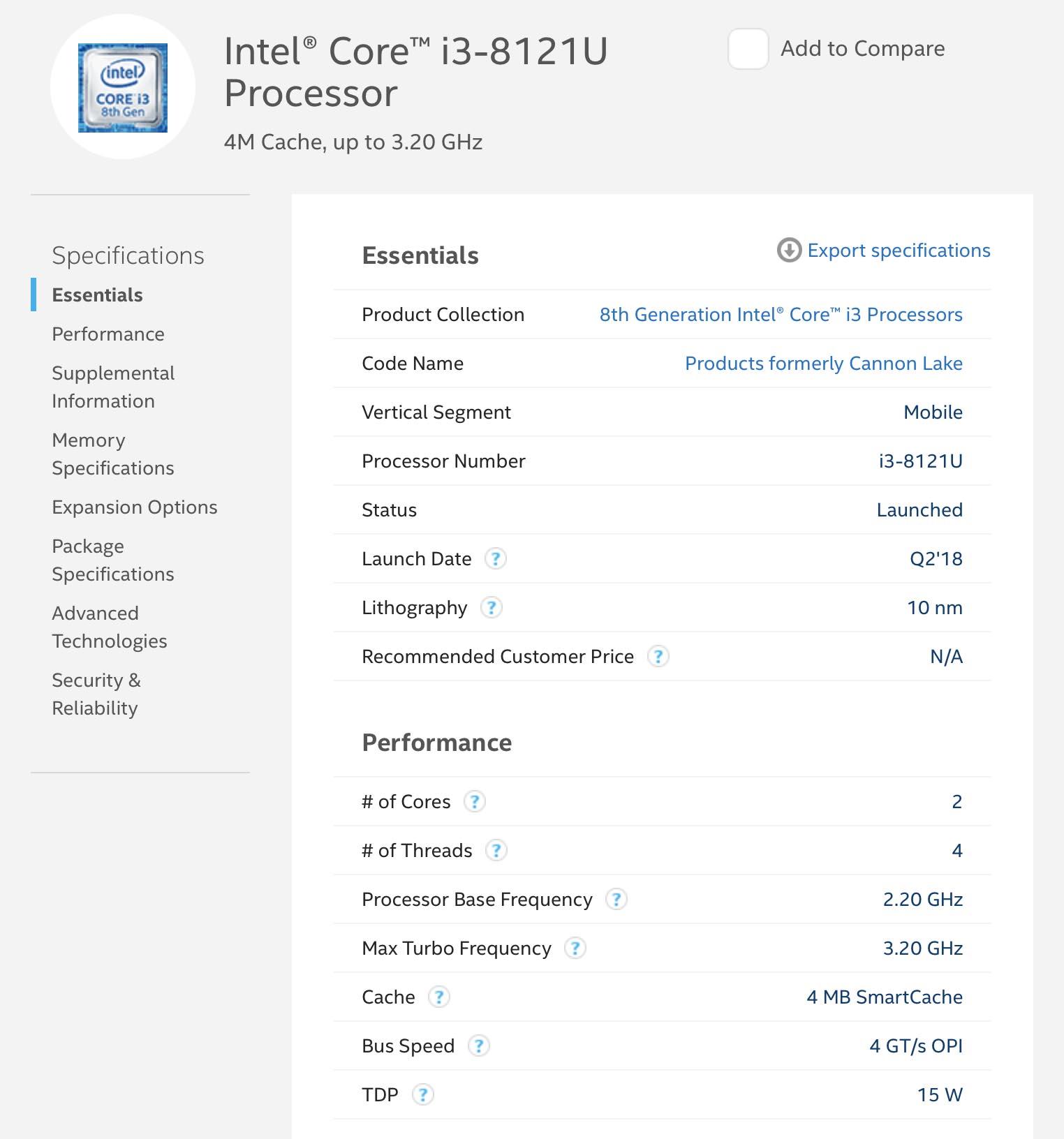 Intel 10 nanomètres ARK