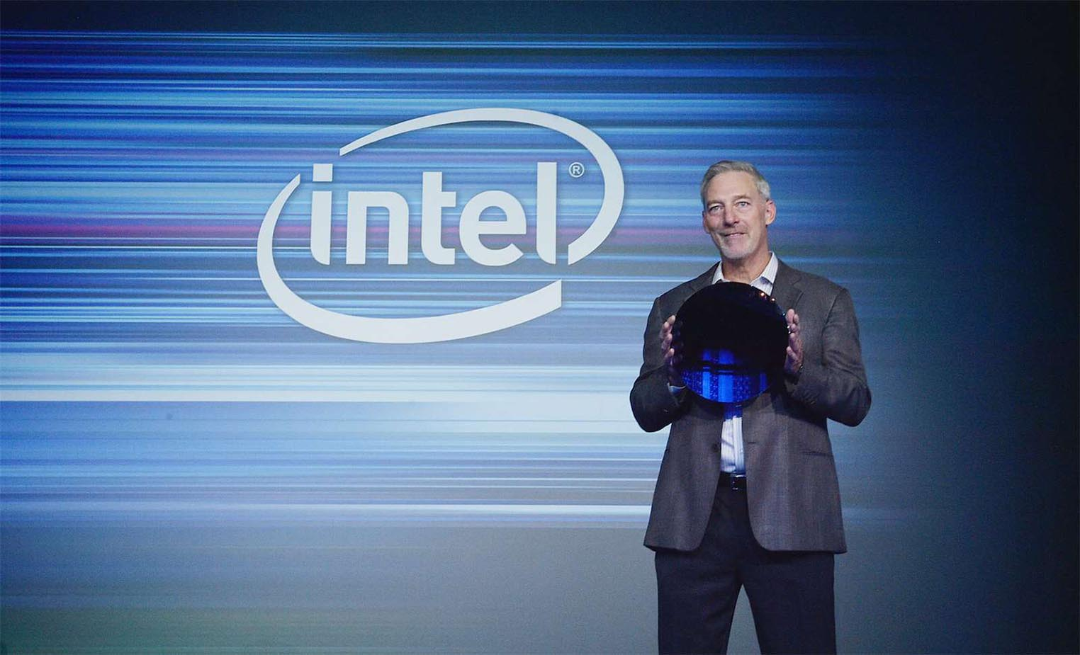 Intel Cannon Lake wafer