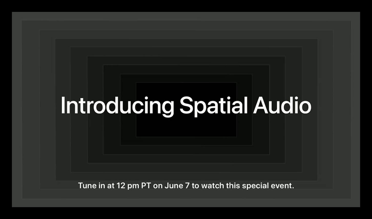 Introducing Spatial Audio Special Event