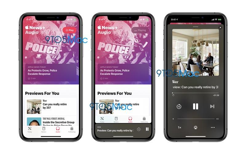 Première bêta pour iOS 13.5.5 et Apple News+ Audio
