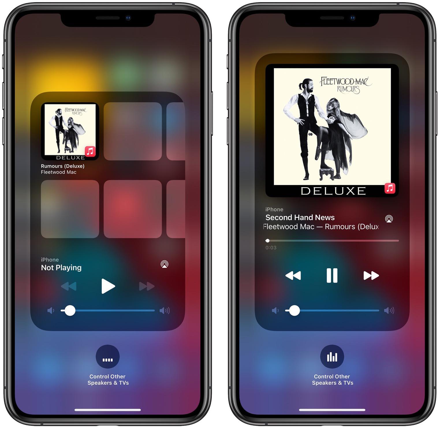 iOS 14.2 widget Musique